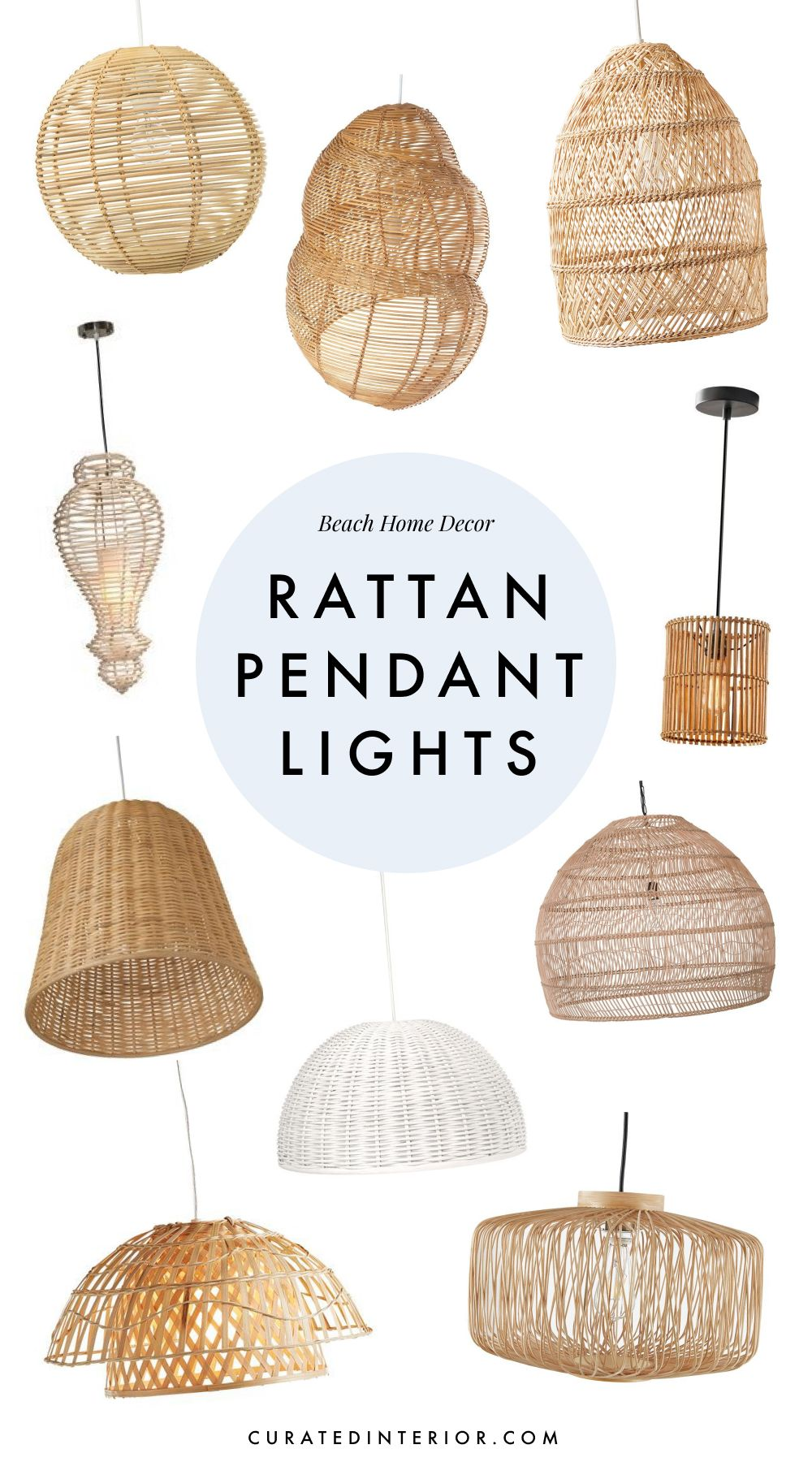 Beautiful Rattan Pendant Lights for a Beach Home