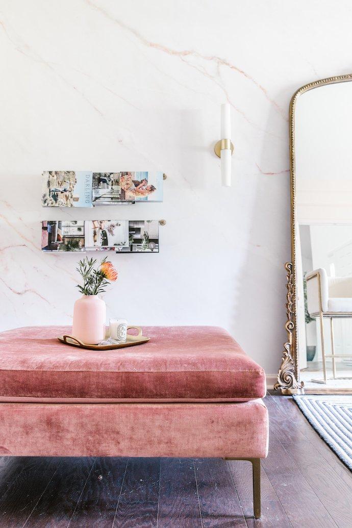 Blush Pink Ottoman