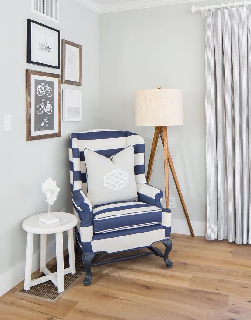 Coastal Accent Chair via @agk_designstudio