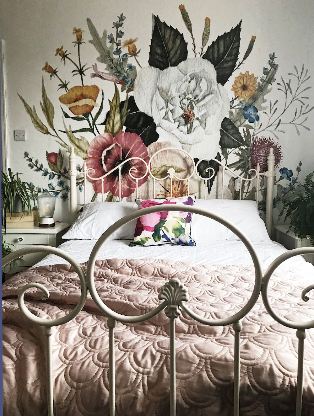 Floral wall mural via anewall