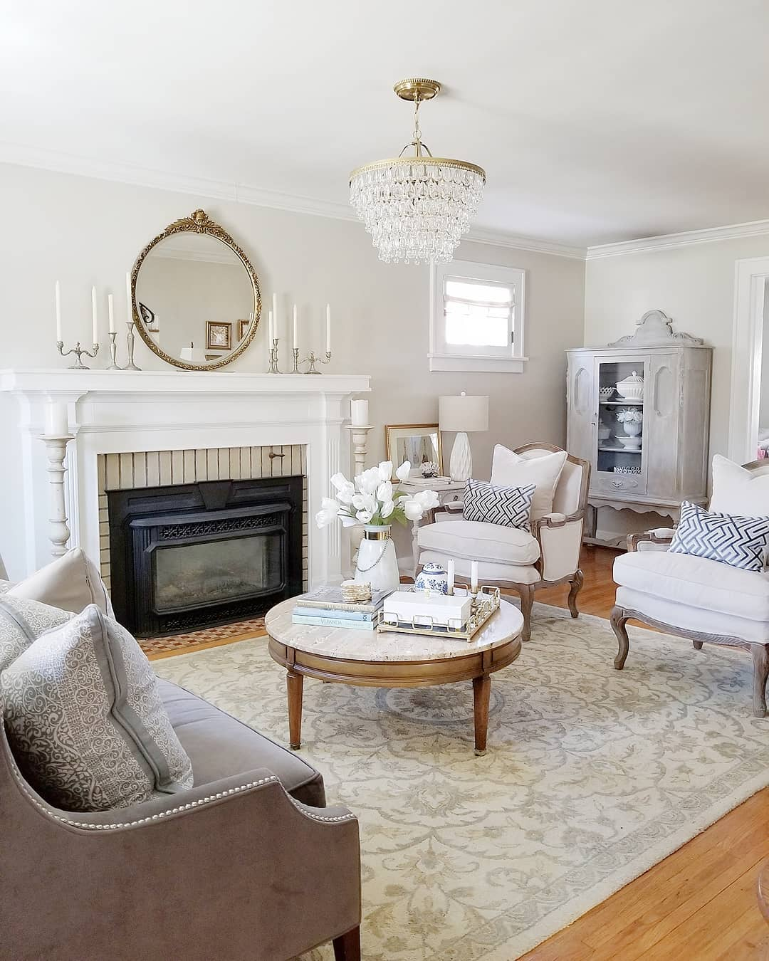 interesting french style white living room | The Complete Guide to French Country Decor