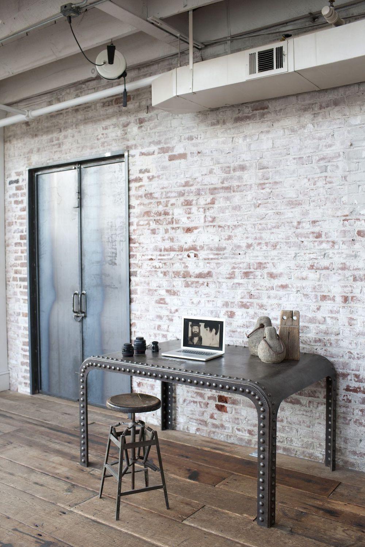 Industrial Desks for Home offices via DesignSponge