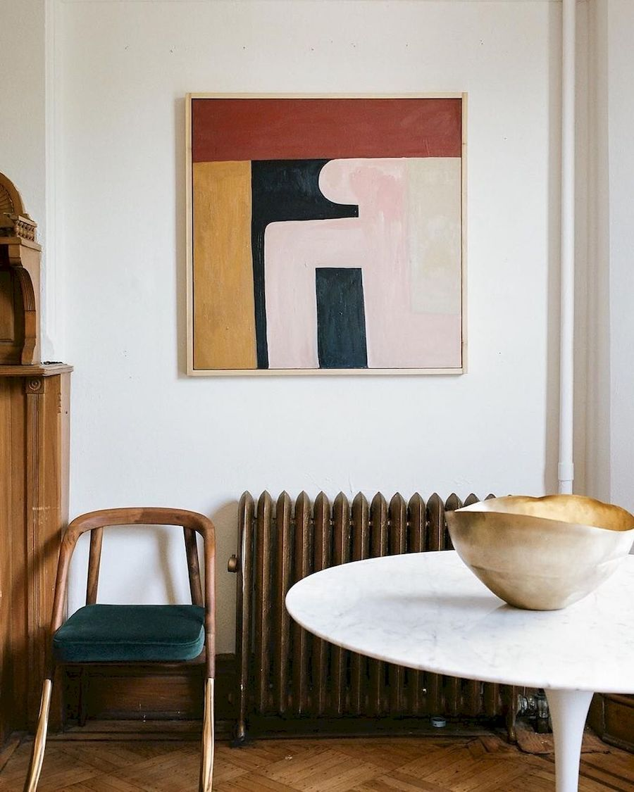 Mid-Century Modern Art, Abstract painting on the wall