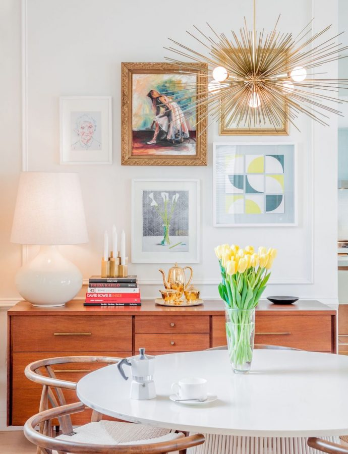19 Gold or Brass Mid-Century Modern Chandeliers
