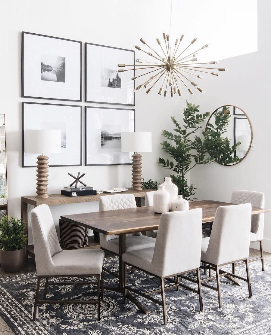 Neutral dining room via @leclairdecor