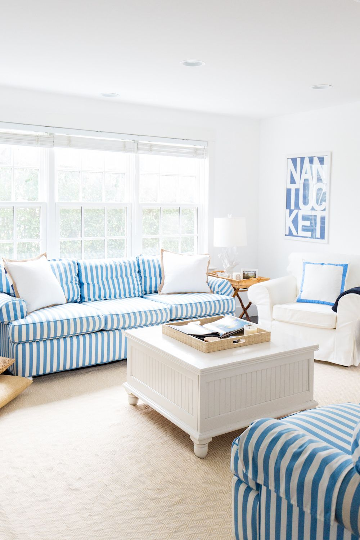White Coffee Table in Beach Home via mackenziehoran