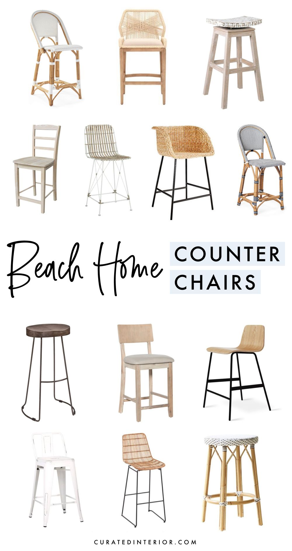 Beach Home Counter Chairs