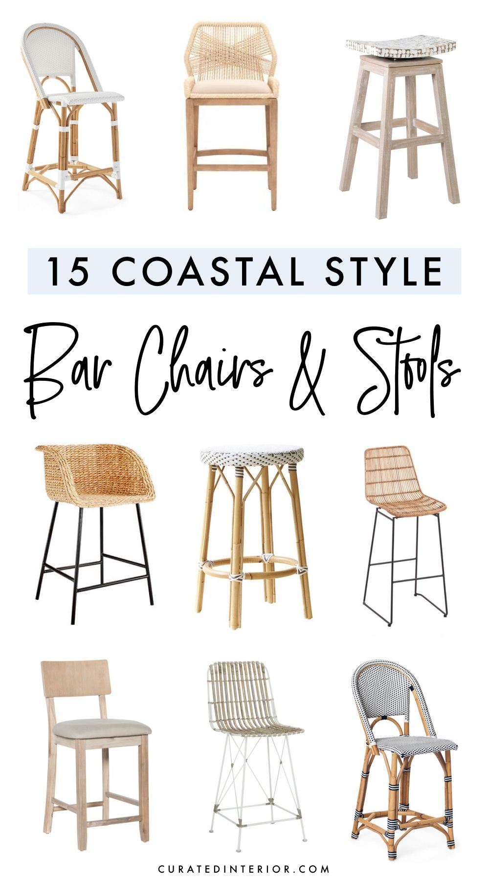 Coastal Style Bar Chairs and Stools
