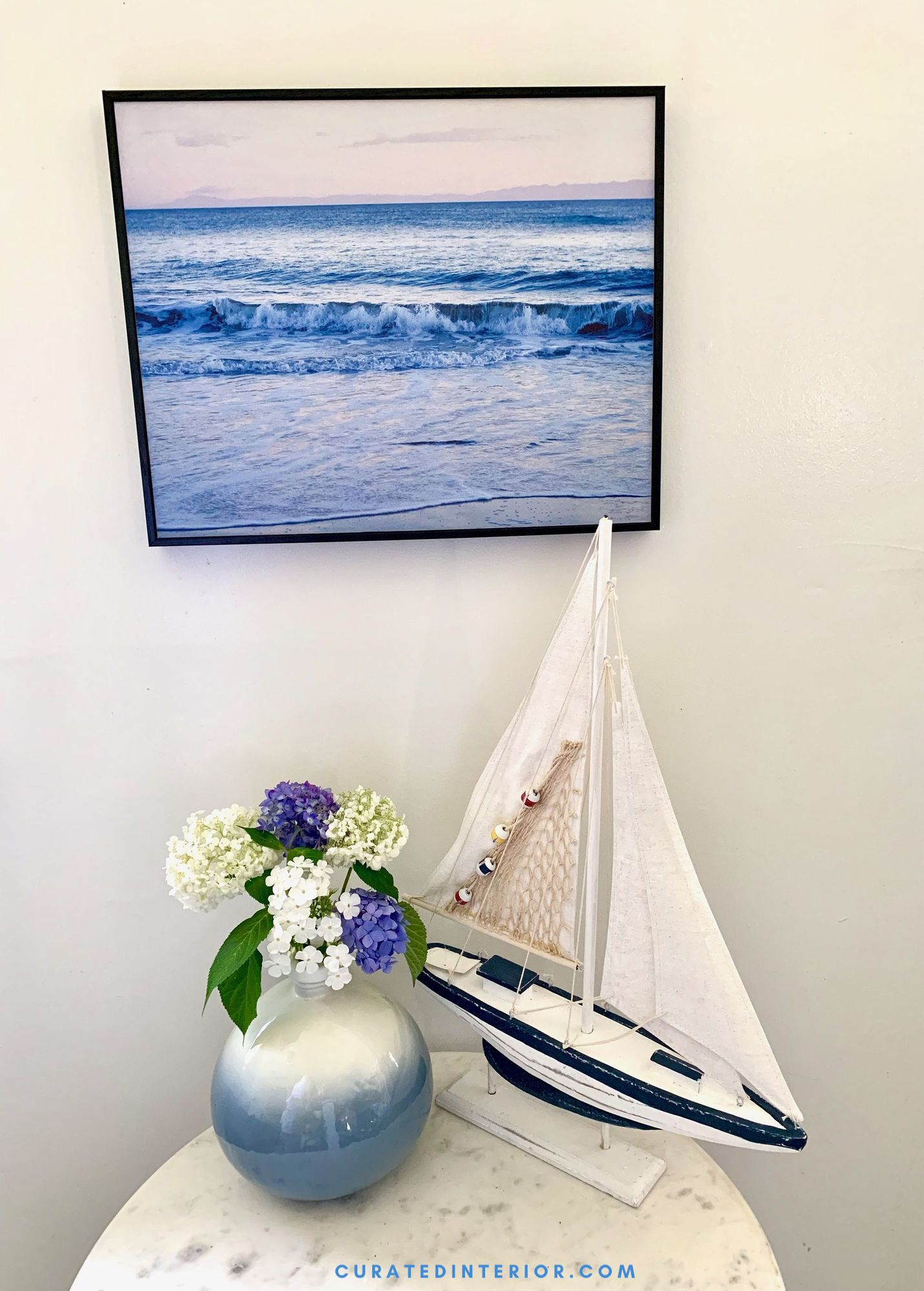 Breakfast Nook with Coastal Decorative Accents from Walmart