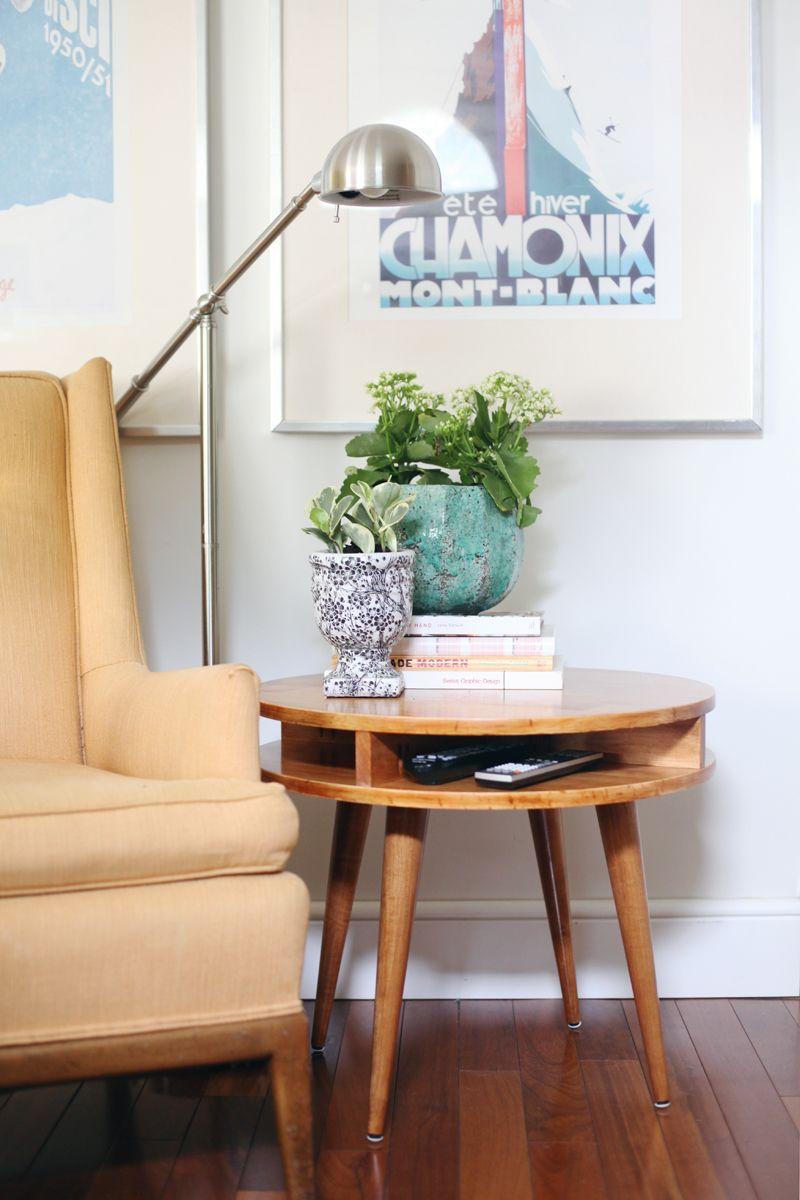 DIY mid-century modern side table by ABM