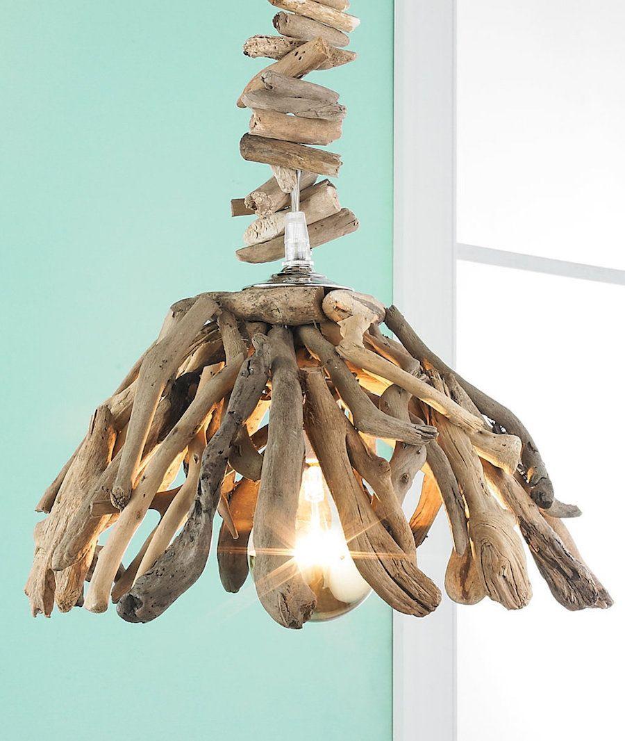 Driftwood Chandelier - Coastal chandelier ideas