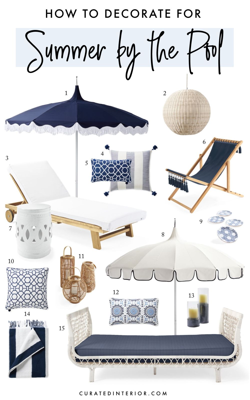 How to Decorate for Summer by the Pool