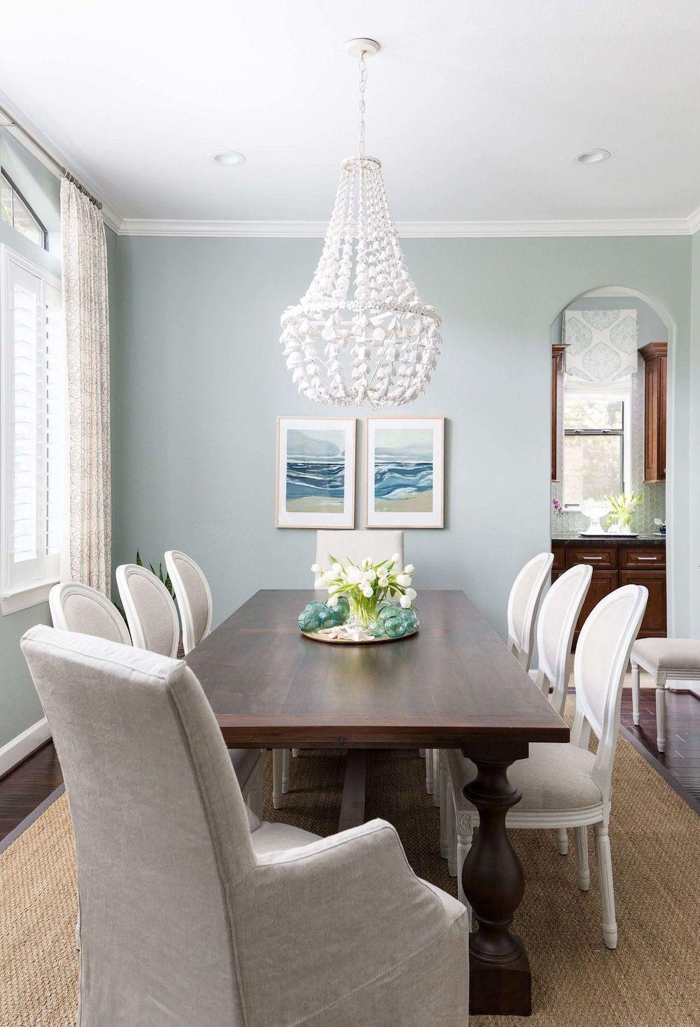 White seashell coastal chandeliers via Carla Aston