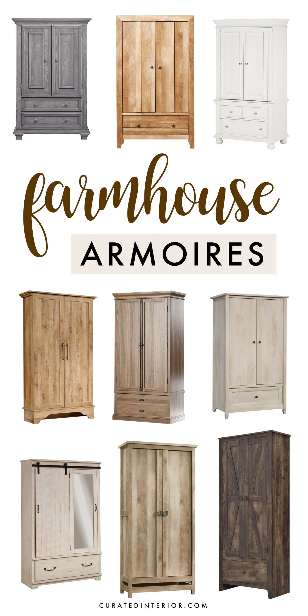 10 Farmhouse Armoires with Rustic Charm