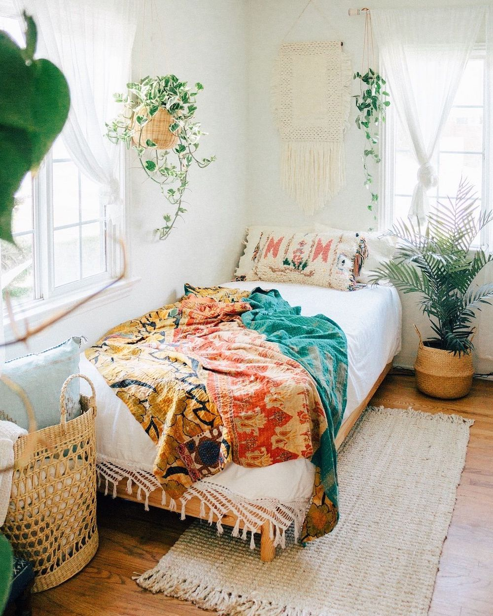 Bohemian Bedroom via @saratoufali