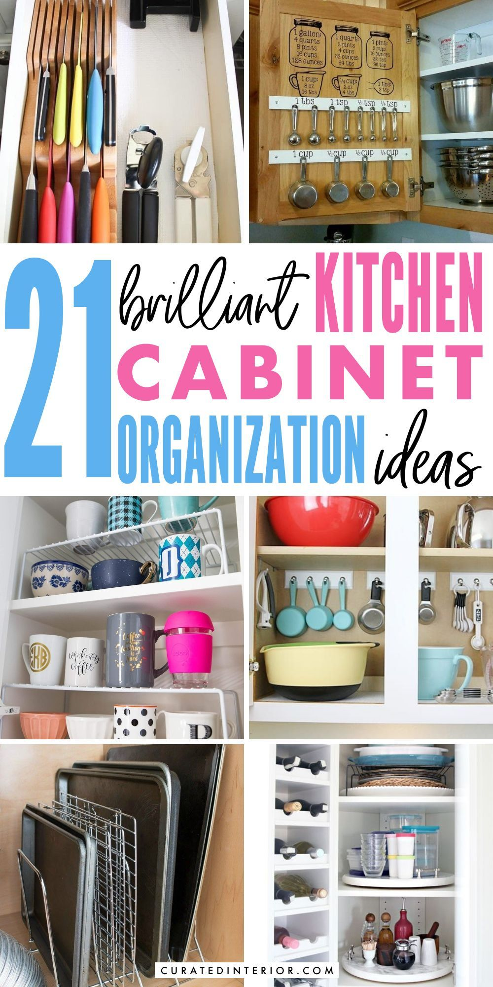 Brilliant Kitchen Cabinet Organization Ideas