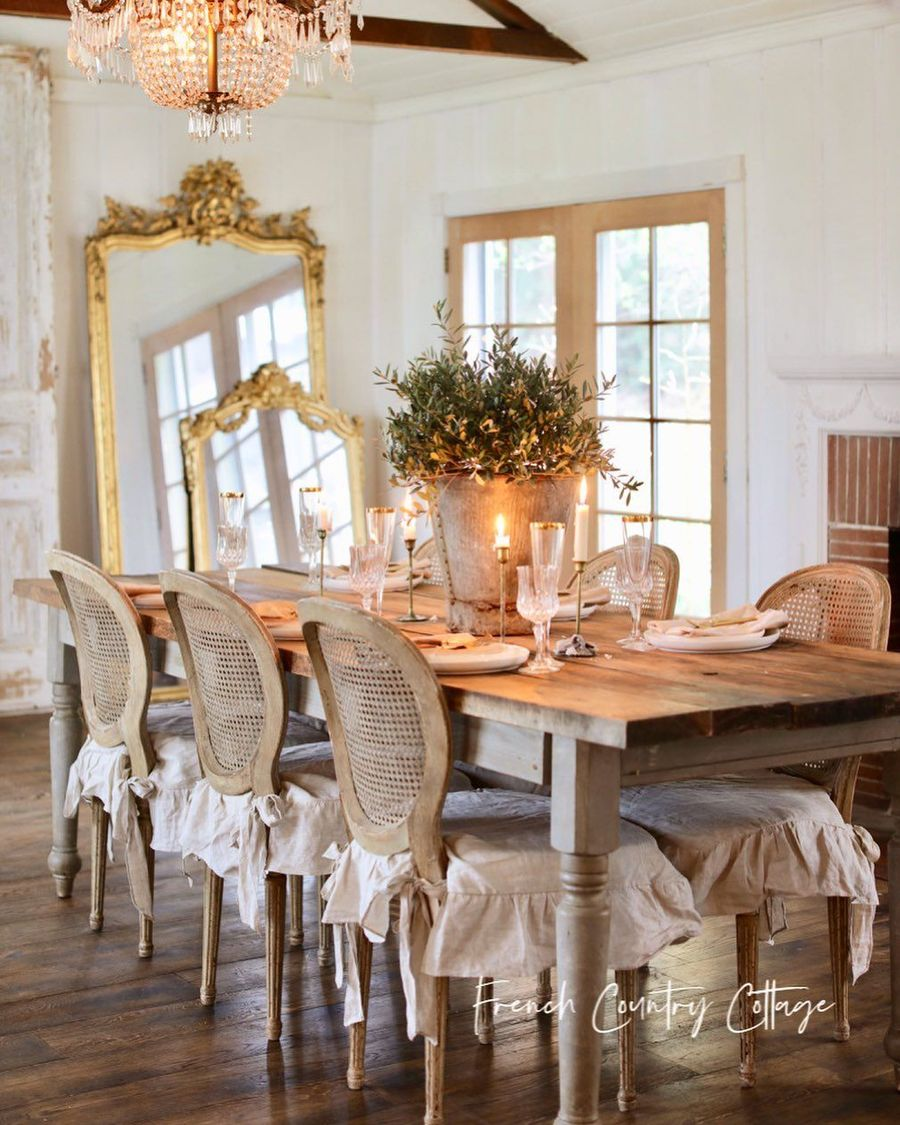 37 Charming French Country Dining Rooms, French Country Dining Room Table Set