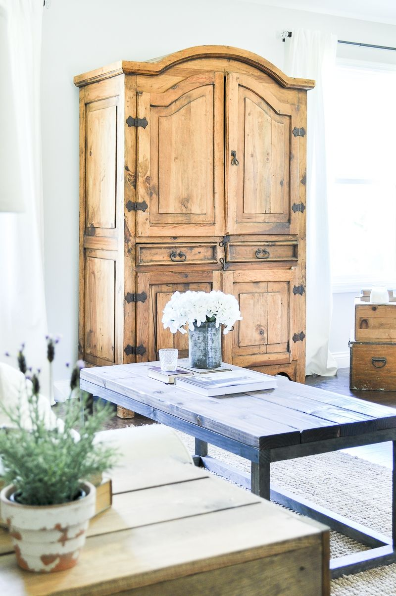 Farmhouse Armoires with Rustic Charm