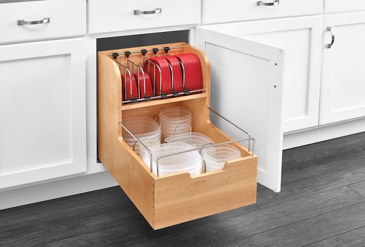 Ref-A-Shelf Food Storage Pull Out Pantry - kitchen cabinet organization ideas
