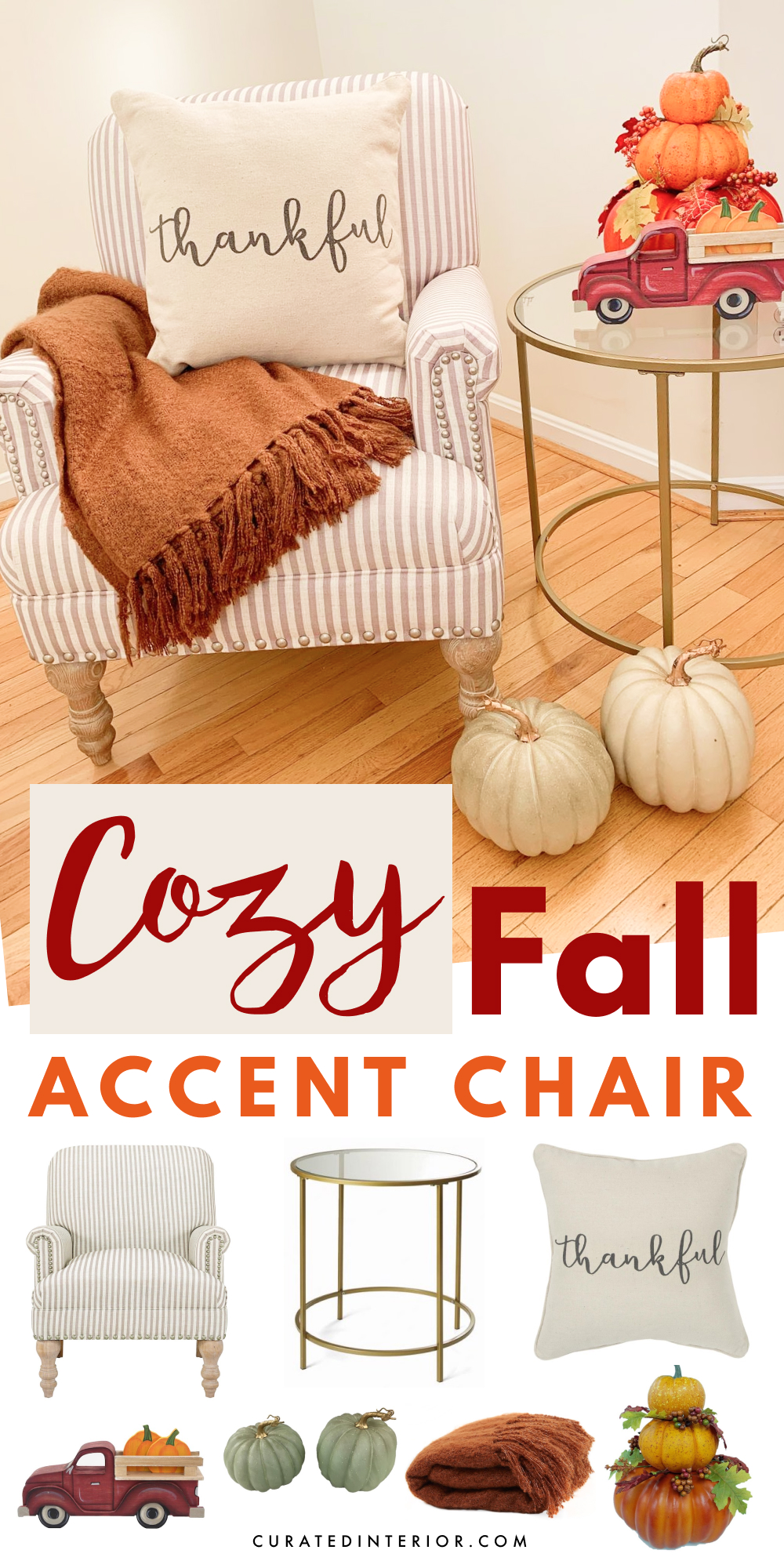 Cozy Fall Accent Chair Decor from Walmart