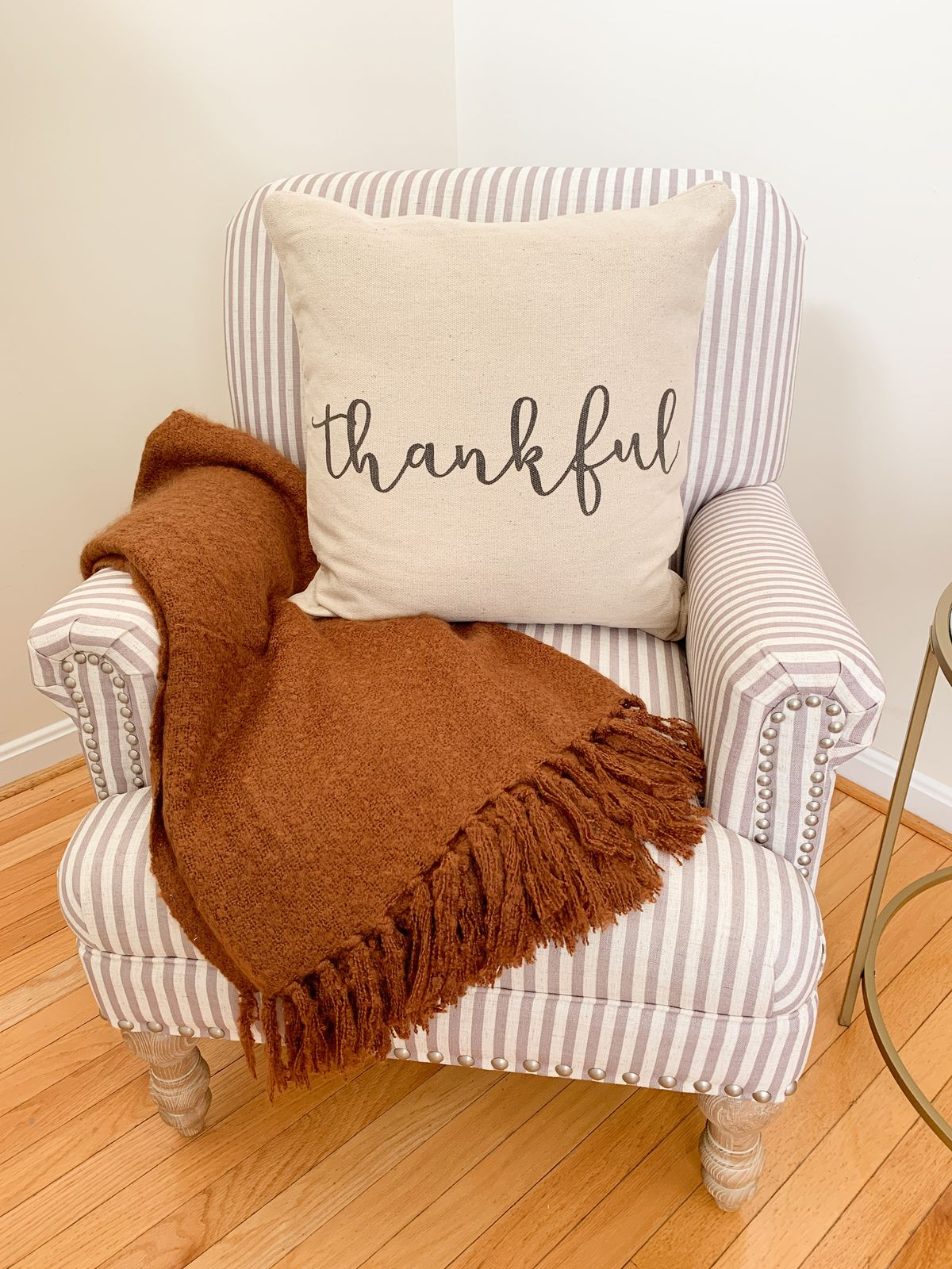 Cozy Fall Accent Chair Decor