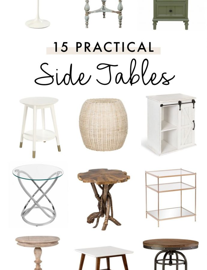 15 Practical Side Tables to Use Anywhere
