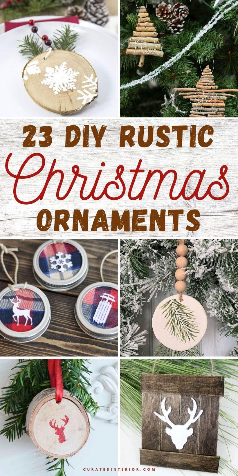 23 DIY Rustic Christmas Ornaments