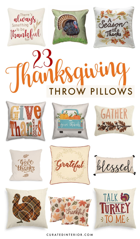 23 Festive Thanksgiving Throw Pillows