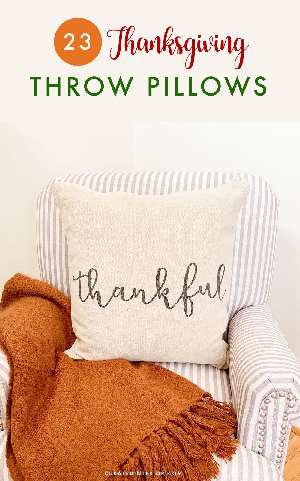 23 Thanksgiving Throw Pillows You'll Love!