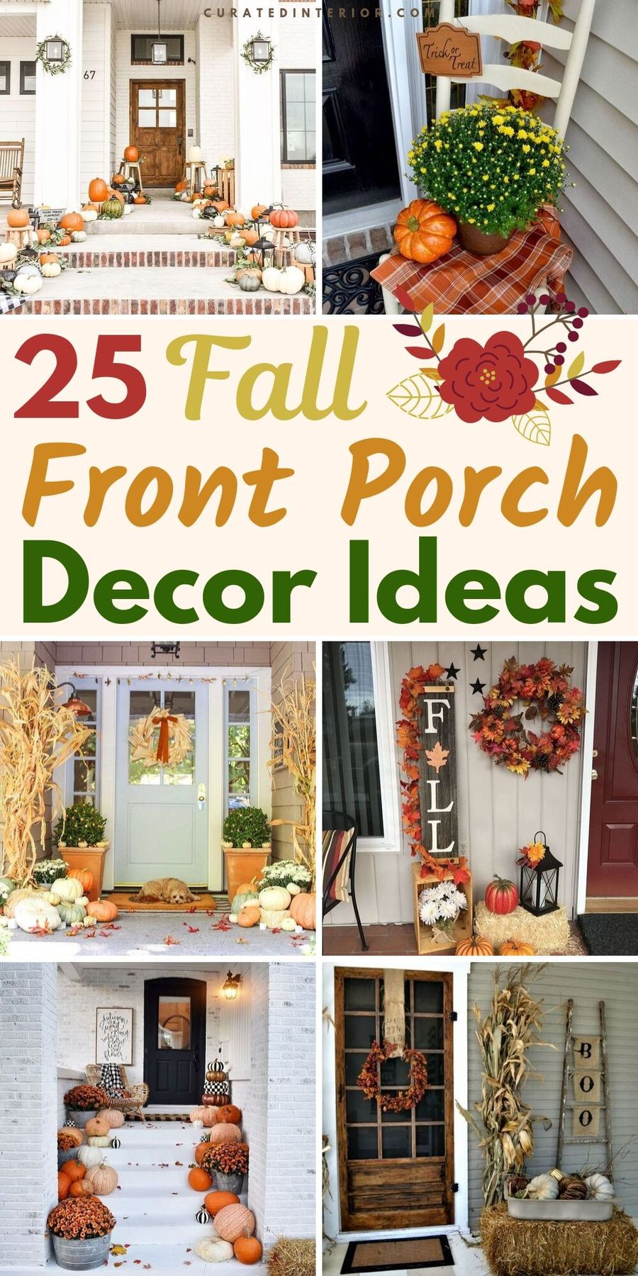 25 Fall Front Porch Decorating Ideas
