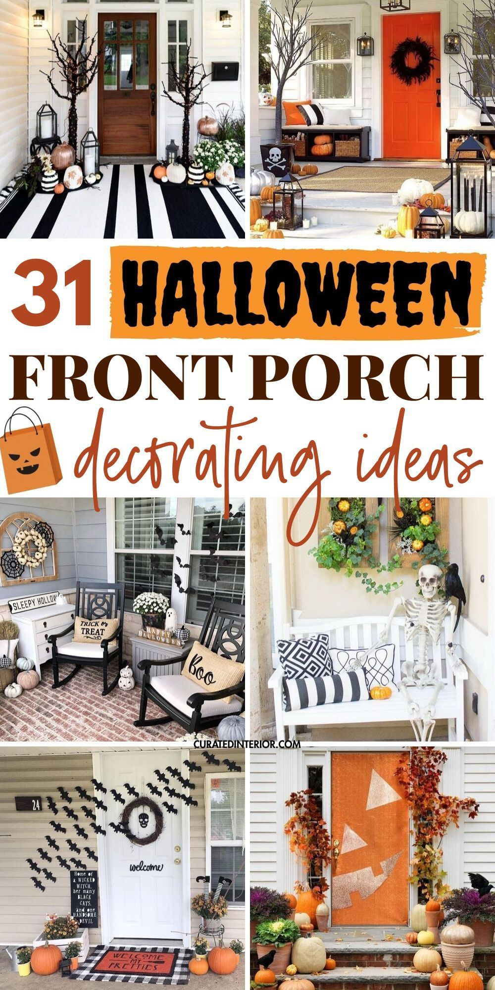 31 Halloween Front Porch Decor Ideas to make your entryway spooky this October!