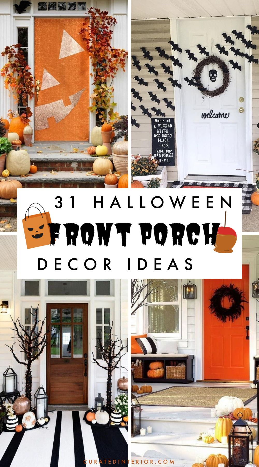 31 Halloween Front Porch Decorating Ideas