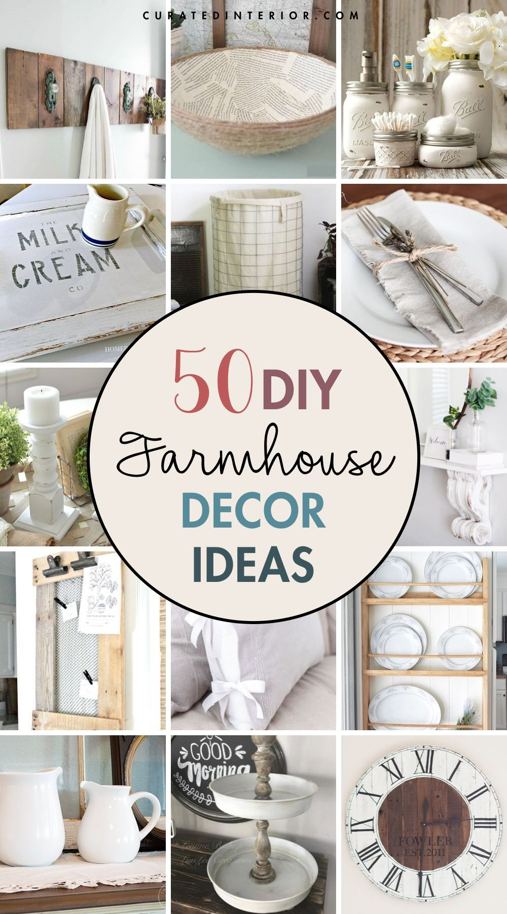50 DIY Farmhouse Decor Ideas