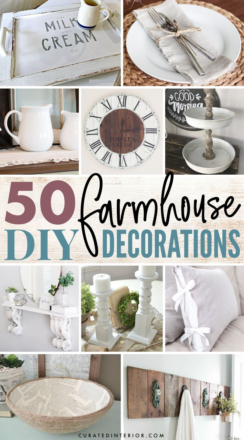 50 Farmhouse DIY Decorations