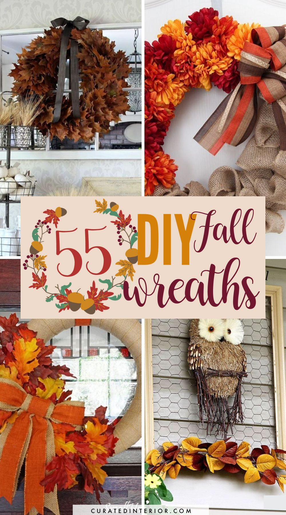 55 DIY Fall Wreaths to Make this Autumn!