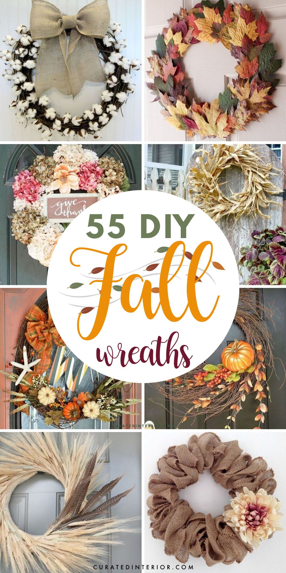 55 Fall DIY Wreaths that are Easy and Cheap to Make!