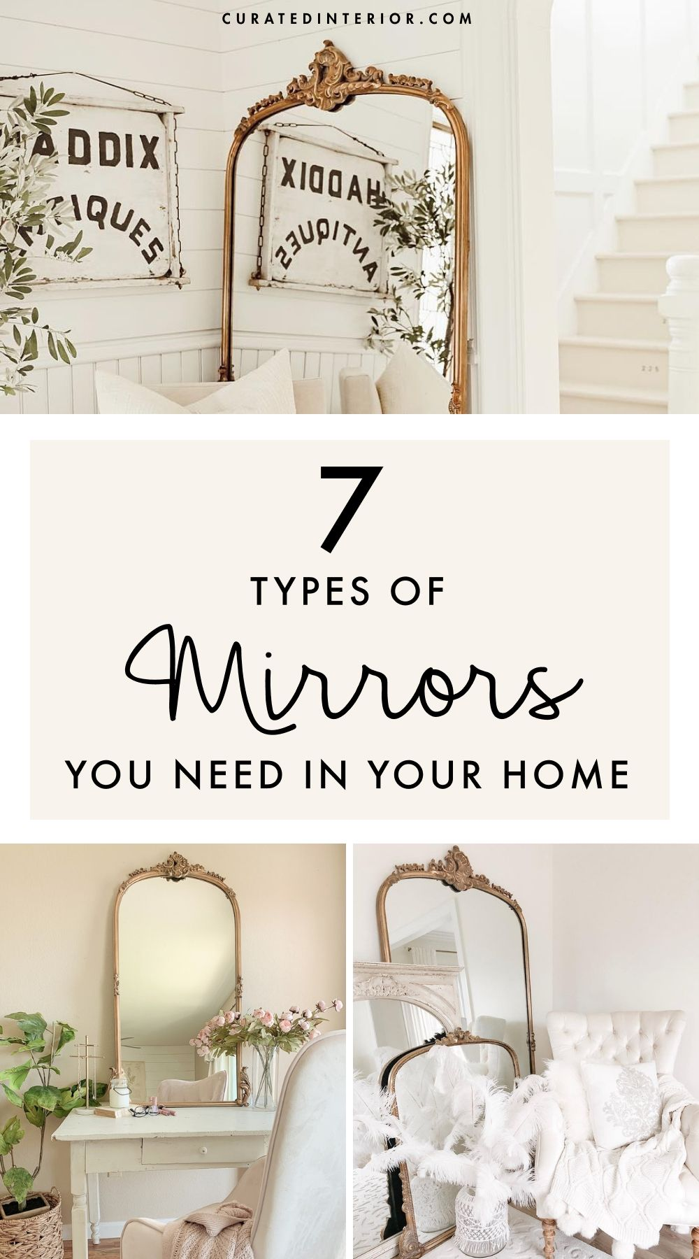 7 Types of Mirrors You Need in Your Home!