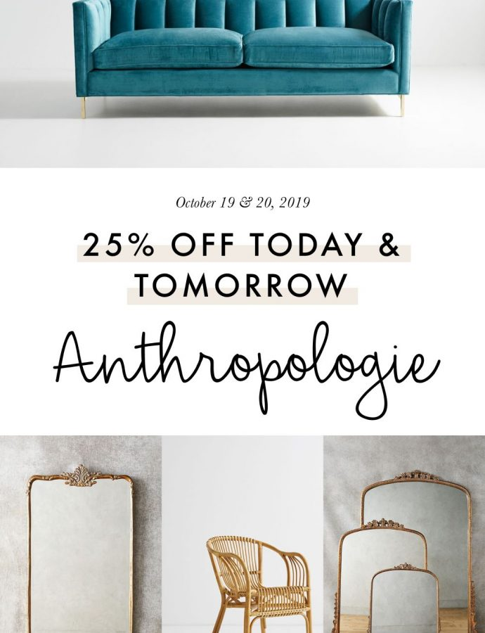 6 Favorites from the 25%-off-everything Anthropologie Sale This Weekend