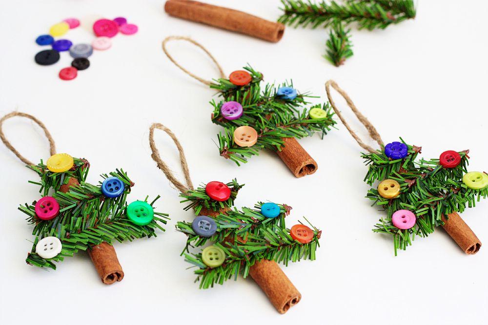 Cinnamon Stick Christmas Tree Ornaments via consumercrafts