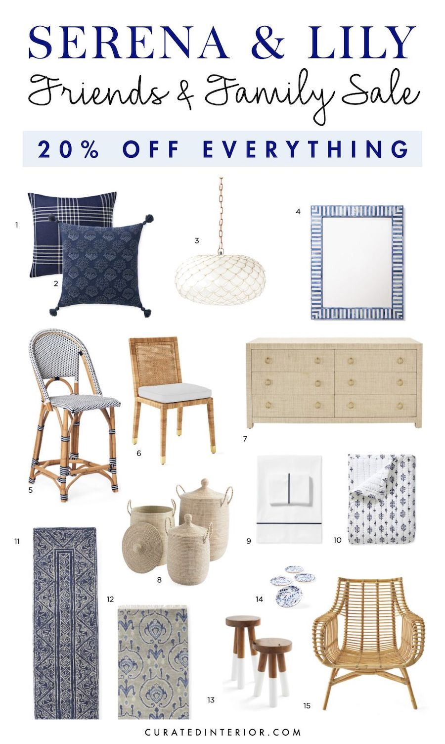 Coastal Furniture and Decor from Serena and Lily Friends and Family Sale