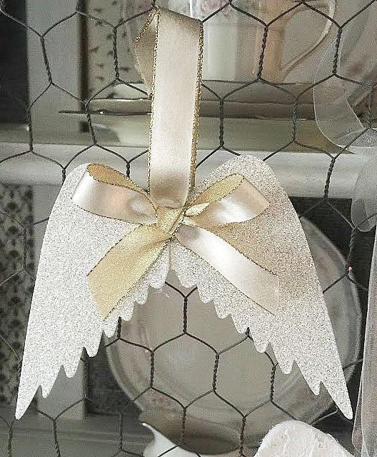 DIY Angel Wing Ornaments via ourcraftymom
