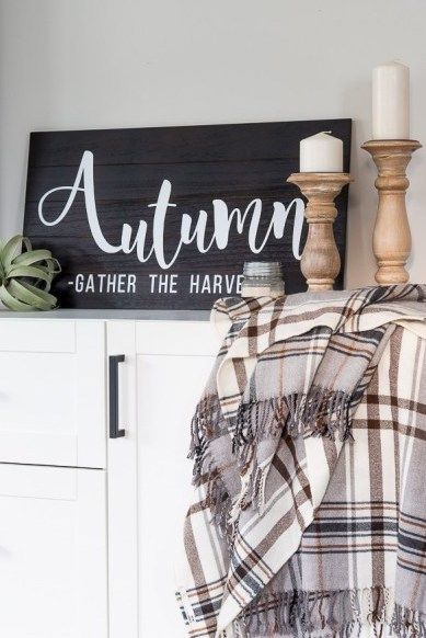 DIY Autumn Wood Sign via keystoinspiration