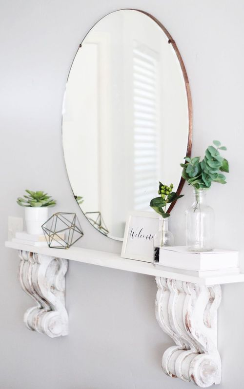DIY Corbel Shelf via maymeandmom