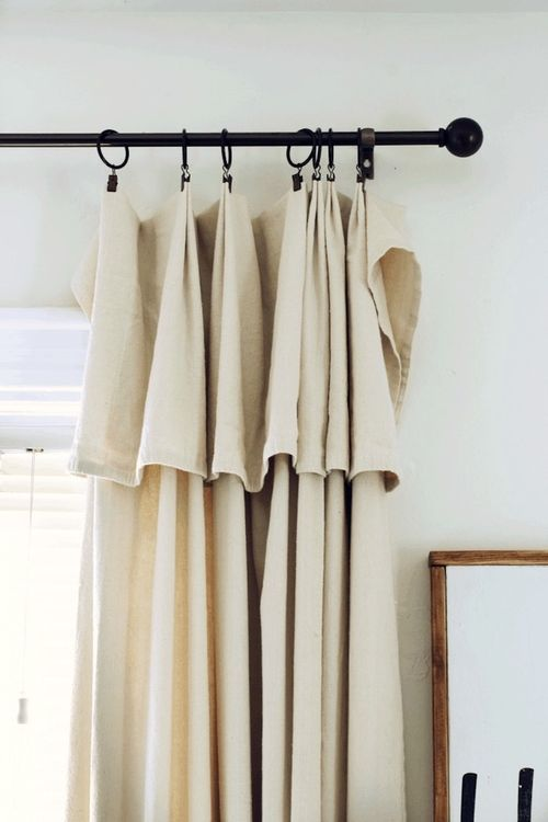DIY Drop Cloth Curtains via michealadianedesigns