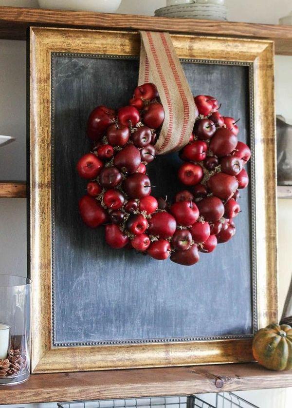 DIY Fall Apple Wreath via thewoodgraincottage