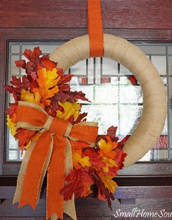 DIY Fall Burlap Wreath Decor via todayscreativelife