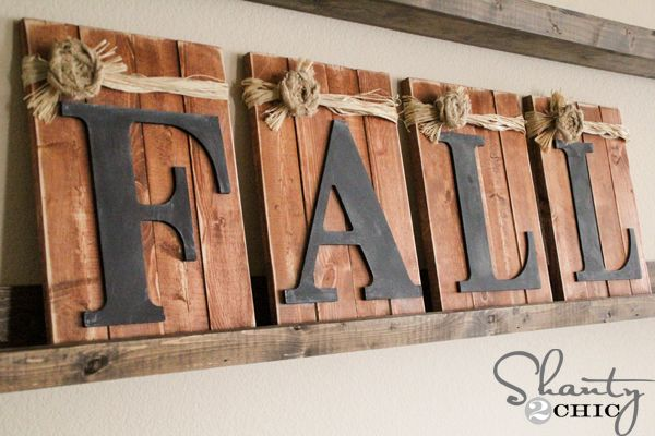 DIY Fall Chalkboard Sign via shanty-2-chic