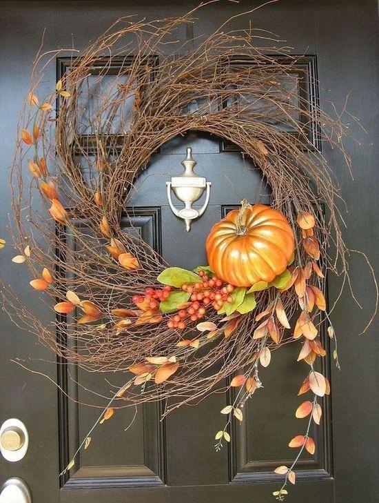 DIY Fall Harvest Wispy Wreath via madeinaday