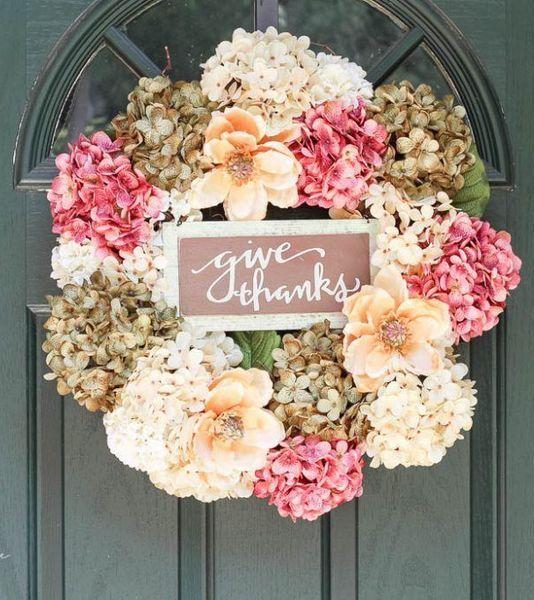 DIY Fall Hydrangea Wreath via theturquoisehome