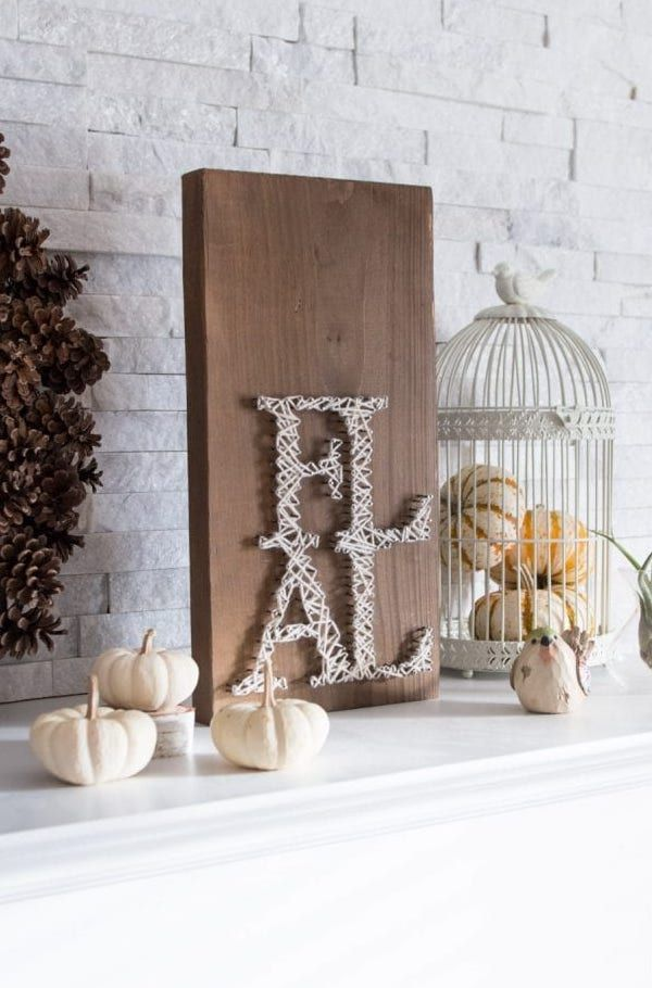 DIY Fall String Art Sign via sustainmycrafthabit